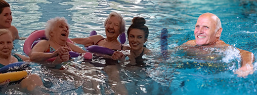 Dementia-friendly swimming gives care home residents a 'sense of freedom'