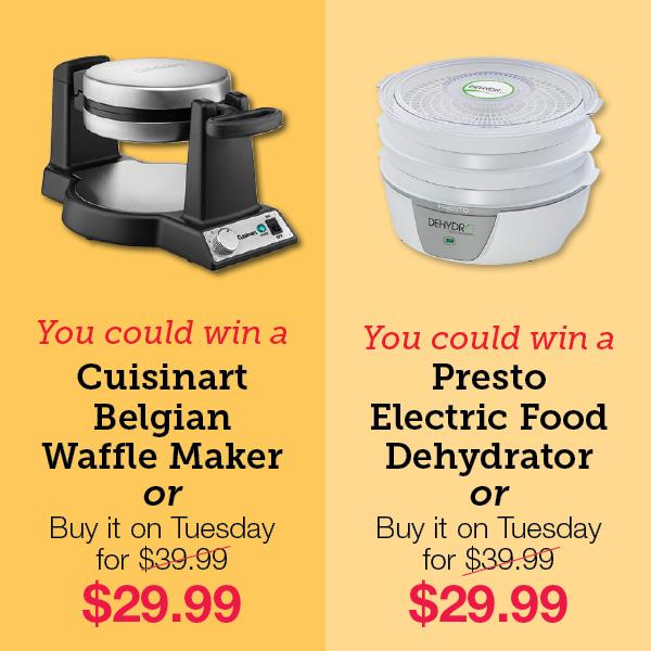 Cuisinart Belgian Waffle Maker. Presto Electric Food Dehydrator.