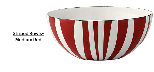 Striped Bowl - Medium Red