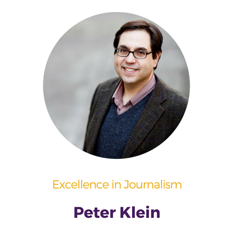 Peter Klein, Excellence in Journalism